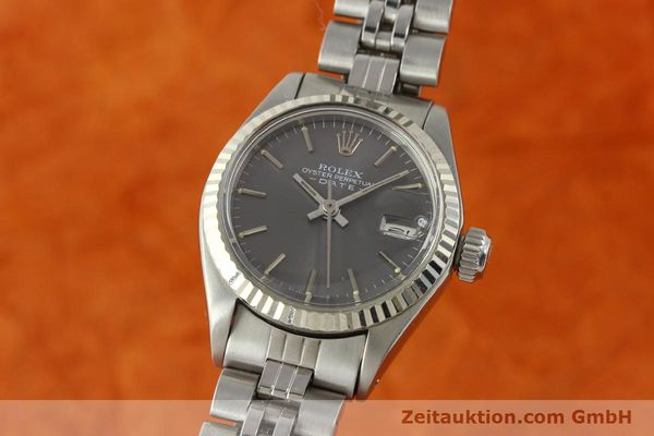 Used luxury watch Rolex Lady Date steel / white gold automatic Kal. 2030 Ref. 6917  | 143034 04