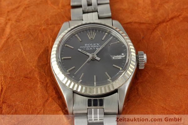 Used luxury watch Rolex Lady Date steel / white gold automatic Kal. 2030 Ref. 6917  | 143034 15