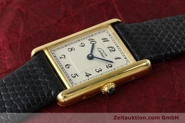 Used luxury watch Cartier Tank silver-gilt quartz Kal. 90  | 143036 01