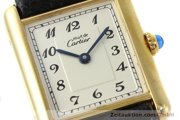 Used luxury watch Cartier Tank silver-gilt quartz Kal. 90  | 143036 02