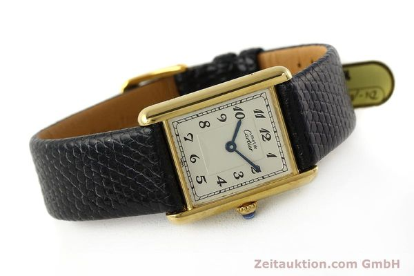 Used luxury watch Cartier Tank silver-gilt quartz Kal. 90  | 143036 03