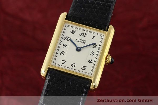 Used luxury watch Cartier Tank silver-gilt quartz Kal. 90  | 143036 04
