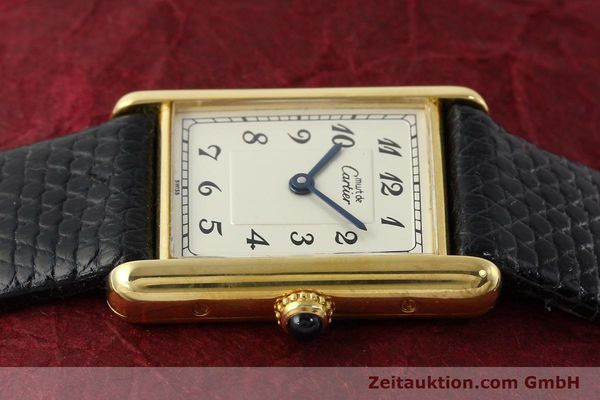 Used luxury watch Cartier Tank silver-gilt quartz Kal. 90  | 143036 05