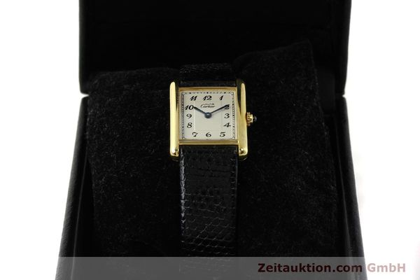 Used luxury watch Cartier Tank silver-gilt quartz Kal. 90  | 143036 07
