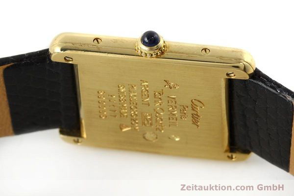 Used luxury watch Cartier Tank silver-gilt quartz Kal. 90  | 143036 08