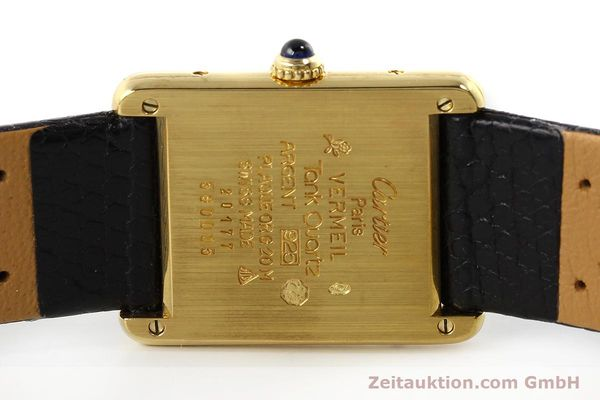 Used luxury watch Cartier Tank silver-gilt quartz Kal. 90  | 143036 09