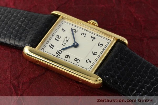 Used luxury watch Cartier Tank silver-gilt quartz Kal. 90  | 143036 11