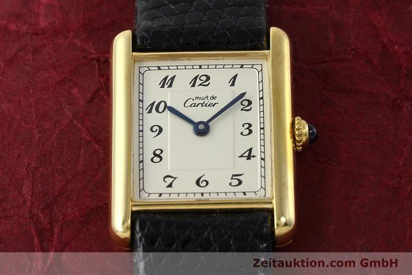 Used luxury watch Cartier Tank silver-gilt quartz Kal. 90  | 143036 12