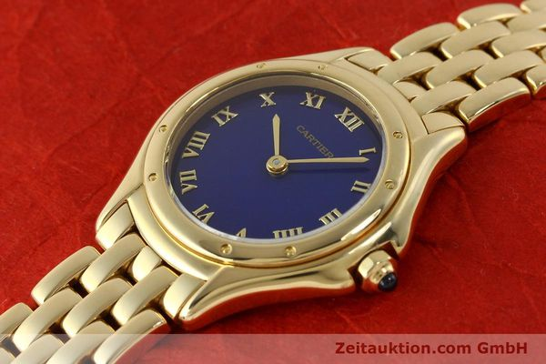 montre de luxe d occasion Cartier Cougar or 18 ct quartz Kal. 90.06  | 143037 01