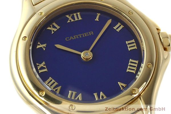 montre de luxe d occasion Cartier Cougar or 18 ct quartz Kal. 90.06  | 143037 02