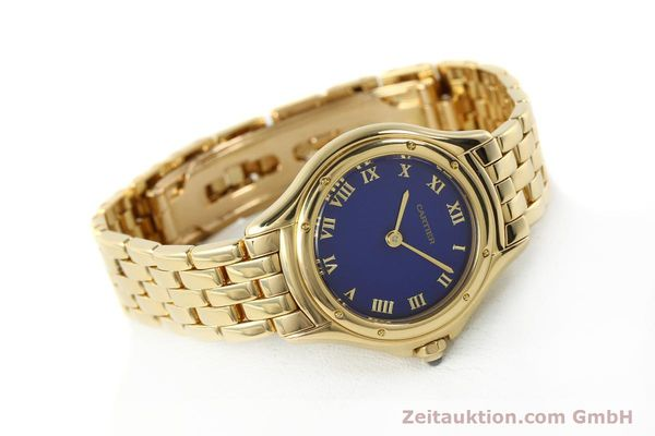 montre de luxe d occasion Cartier Cougar or 18 ct quartz Kal. 90.06  | 143037 03
