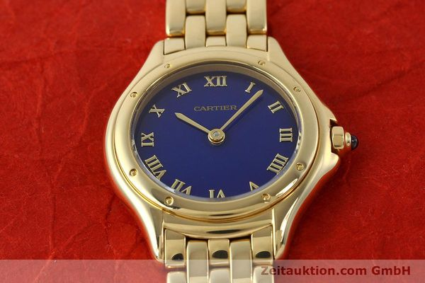 montre de luxe d occasion Cartier Cougar or 18 ct quartz Kal. 90.06  | 143037 17