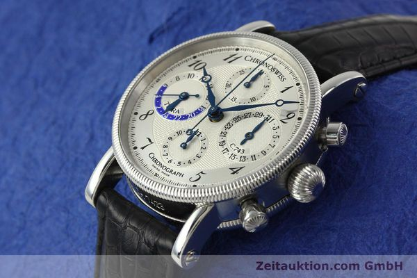Used luxury watch Chronoswiss Tora chronograph steel automatic Kal. 743 Ref. CH7423  | 143038 01