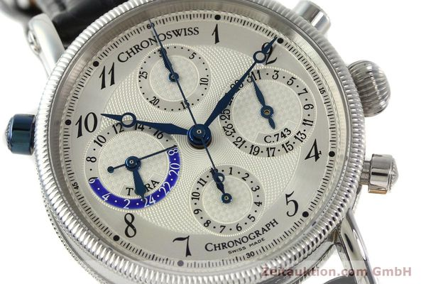 Used luxury watch Chronoswiss Tora chronograph steel automatic Kal. 743 Ref. CH7423  | 143038 02