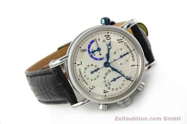 Used luxury watch Chronoswiss Tora chronograph steel automatic Kal. 743 Ref. CH7423  | 143038 03
