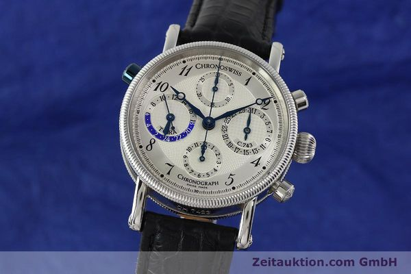 Used luxury watch Chronoswiss Tora chronograph steel automatic Kal. 743 Ref. CH7423  | 143038 04
