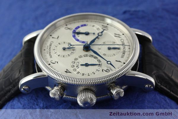 Used luxury watch Chronoswiss Tora chronograph steel automatic Kal. 743 Ref. CH7423  | 143038 05