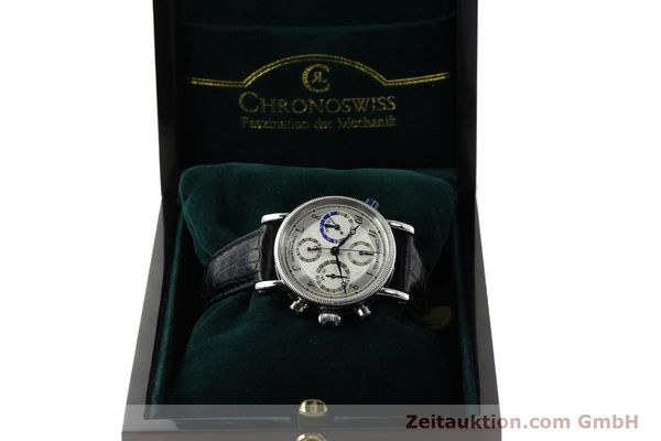 Used luxury watch Chronoswiss Tora chronograph steel automatic Kal. 743 Ref. CH7423  | 143038 07
