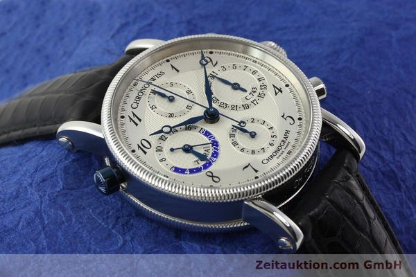 Used luxury watch Chronoswiss Tora chronograph steel automatic Kal. 743 Ref. CH7423  | 143038 16
