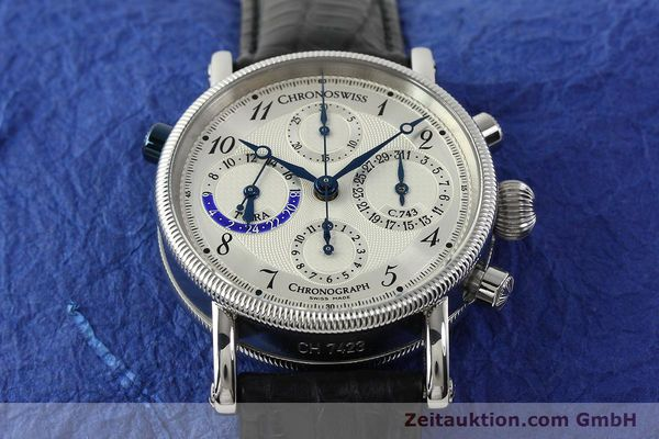 Used luxury watch Chronoswiss Tora chronograph steel automatic Kal. 743 Ref. CH7423  | 143038 17