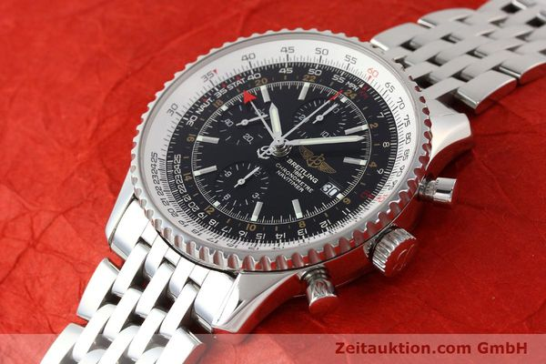 Used luxury watch Breitling Navitimer World chronograph steel automatic Kal. B24 ETA 7754 Ref. A24322  | 143039 01
