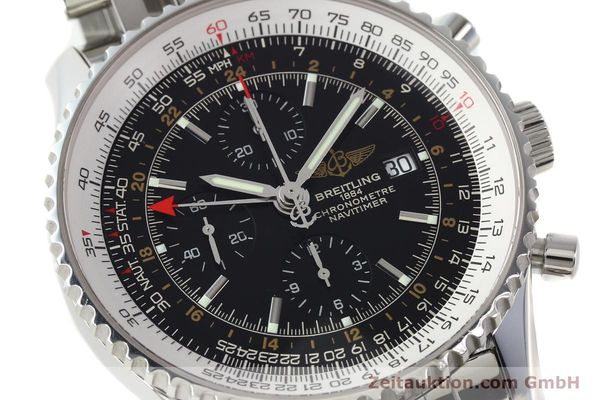 Used luxury watch Breitling Navitimer World chronograph steel automatic Kal. B24 ETA 7754 Ref. A24322  | 143039 02