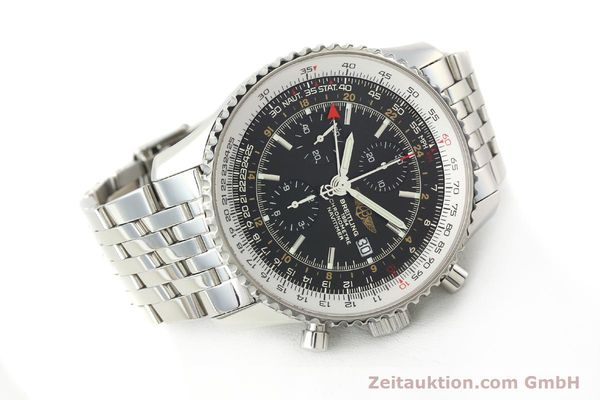 Used luxury watch Breitling Navitimer World chronograph steel automatic Kal. B24 ETA 7754 Ref. A24322  | 143039 03