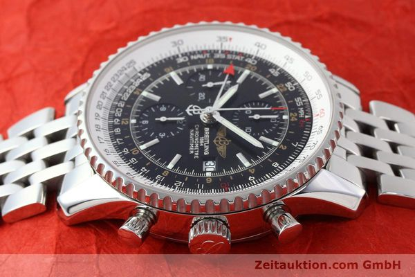 Used luxury watch Breitling Navitimer World chronograph steel automatic Kal. B24 ETA 7754 Ref. A24322  | 143039 05