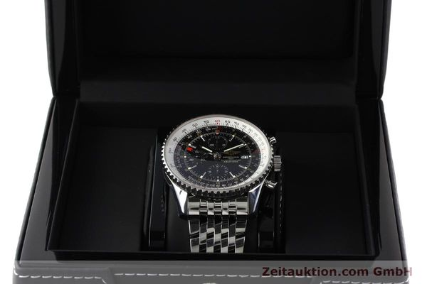 Used luxury watch Breitling Navitimer World chronograph steel automatic Kal. B24 ETA 7754 Ref. A24322  | 143039 07
