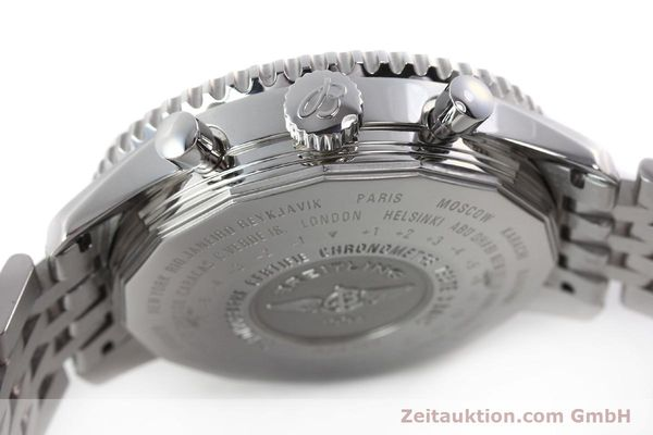 Used luxury watch Breitling Navitimer World chronograph steel automatic Kal. B24 ETA 7754 Ref. A24322  | 143039 08