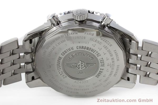 Used luxury watch Breitling Navitimer World chronograph steel automatic Kal. B24 ETA 7754 Ref. A24322  | 143039 09