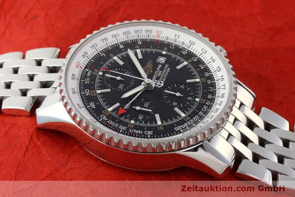Used luxury watch Breitling Navitimer World chronograph steel automatic Kal. B24 ETA 7754 Ref. A24322  | 143039 14