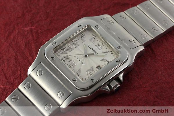 Used luxury watch Cartier Santos steel automatic Kal. 120 ETA 2000-1  | 143042 01