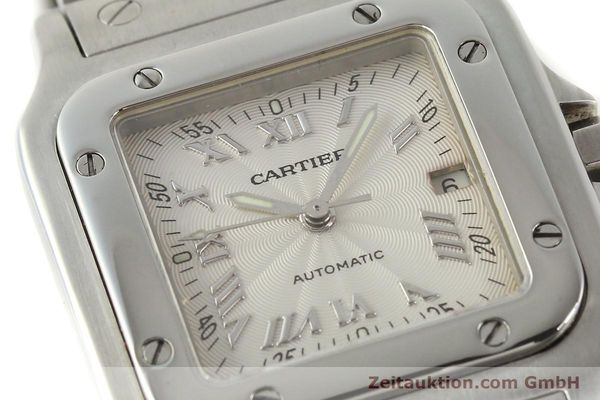 Used luxury watch Cartier Santos steel automatic Kal. 120 ETA 2000-1  | 143042 02