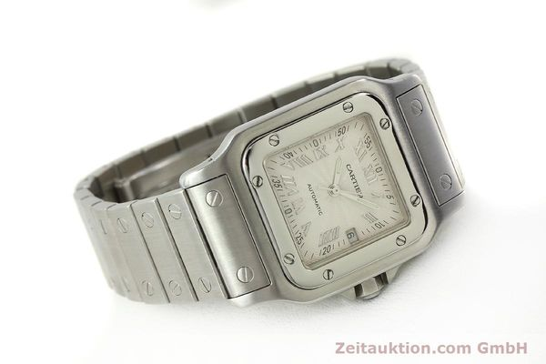 Used luxury watch Cartier Santos steel automatic Kal. 120 ETA 2000-1  | 143042 03