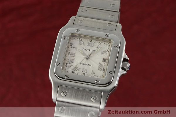 Used luxury watch Cartier Santos steel automatic Kal. 120 ETA 2000-1  | 143042 04