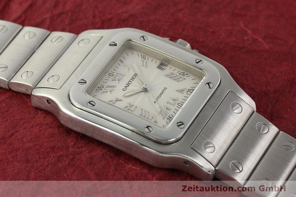 Used luxury watch Cartier Santos steel automatic Kal. 120 ETA 2000-1  | 143042 16