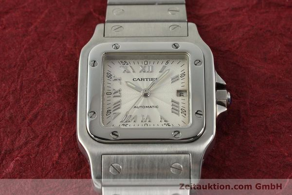 Used luxury watch Cartier Santos steel automatic Kal. 120 ETA 2000-1  | 143042 17