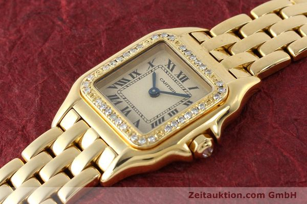 Used luxury watch Cartier Panthere 18 ct gold quartz Kal. 057  | 143047 01