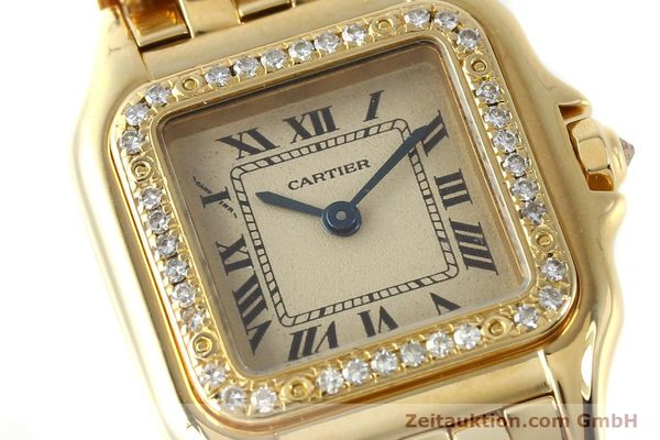 Used luxury watch Cartier Panthere 18 ct gold quartz Kal. 057  | 143047 02