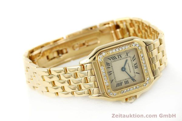 Used luxury watch Cartier Panthere 18 ct gold quartz Kal. 057  | 143047 03