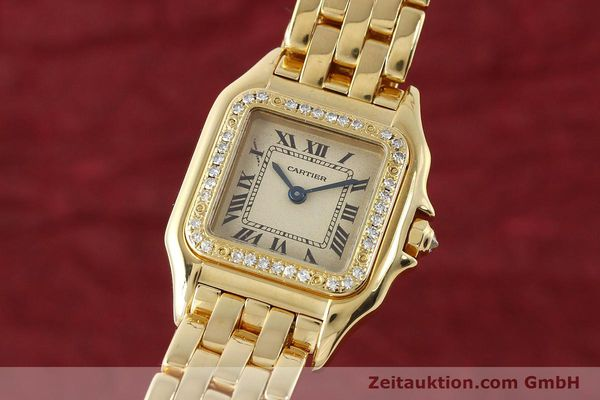 Used luxury watch Cartier Panthere 18 ct gold quartz Kal. 057  | 143047 04