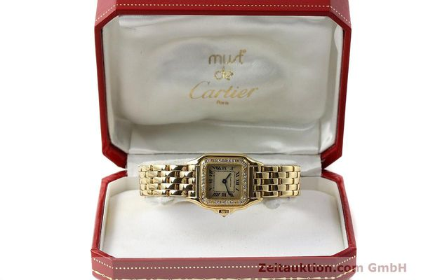 Used luxury watch Cartier Panthere 18 ct gold quartz Kal. 057  | 143047 07