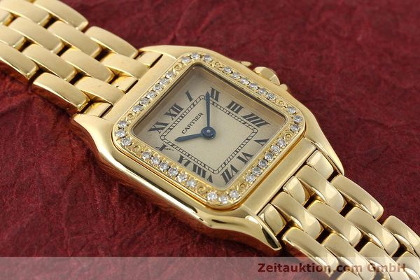 Used luxury watch Cartier Panthere 18 ct gold quartz Kal. 057  | 143047 13