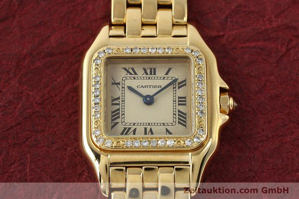 Used luxury watch Cartier Panthere 18 ct gold quartz Kal. 057  | 143047 14