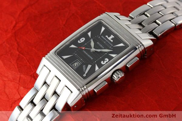 Used luxury watch Jaeger Le Coultre Reverso chronograph steel manual winding Kal. 659 Ref. 295.8.59  | 143057 01