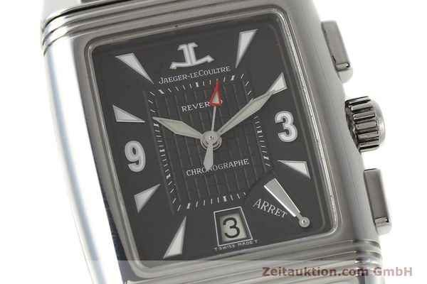 Used luxury watch Jaeger Le Coultre Reverso chronograph steel manual winding Kal. 659 Ref. 295.8.59  | 143057 02