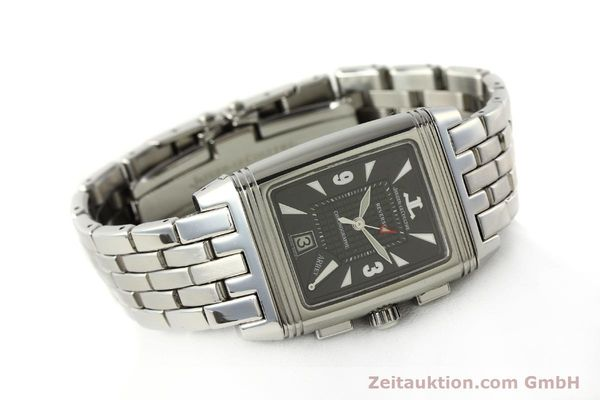 Used luxury watch Jaeger Le Coultre Reverso chronograph steel manual winding Kal. 659 Ref. 295.8.59  | 143057 03