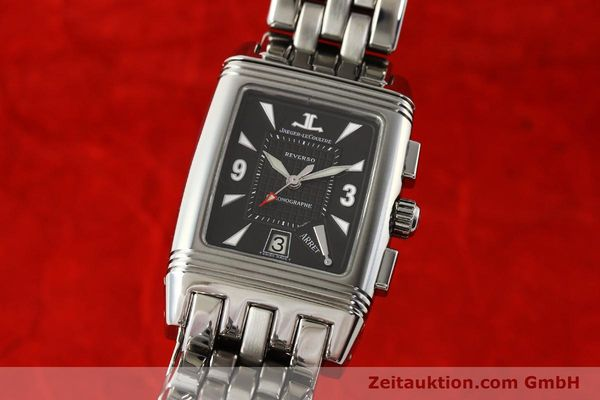 Used luxury watch Jaeger Le Coultre Reverso chronograph steel manual winding Kal. 659 Ref. 295.8.59  | 143057 04