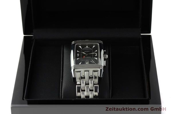 Used luxury watch Jaeger Le Coultre Reverso chronograph steel manual winding Kal. 659 Ref. 295.8.59  | 143057 07